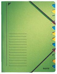 LEITZ Triediace dosky s gumičkou A4, 12 listov, zelené