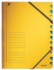LEITZ Triediace dosky s gumičkou A4, 12 listov, žlté