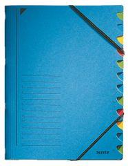 LEITZ Triediace dosky s gumičkou A4, 12 listov, modré