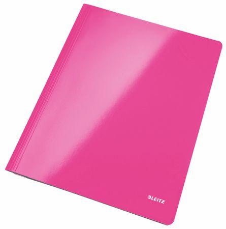 Leitz Desky s rychlovazačem WOW A4 metalicky růžové