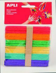 Apli Nanuková dřívka  mix barev 114x10x2 mm/50 ks