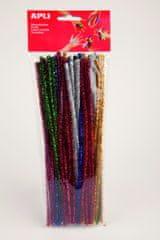 Apli Modelovací drátky se třpytkami barevný mix/50 ks