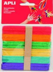 Apli Nanuková dřívka  mix barev 150x18x2 mm/40 ks