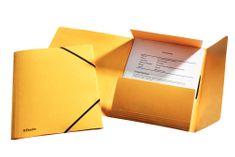 Esselte Mapa odkladacia s 3 chlopňami prešpán s gumičkou žltá