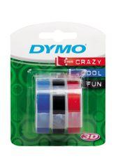 PLUS Páska DYMO 3D 9 mm 3 m blister červená, čierna, modrá