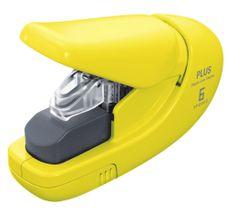PLUS Zošívač bezsponkový 5 hárkov žltý