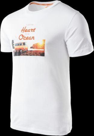 Aqua Wave moška majica Ocean, Beach Print White, bela, M