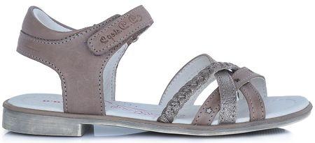 D-D-step dekliški sandali, 28, rjavi