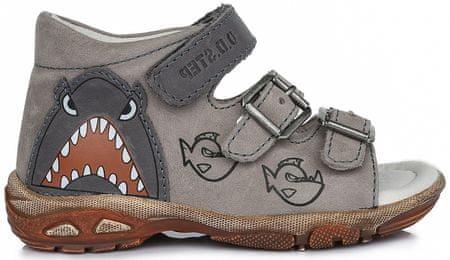 D-D-step sandały chłopięce 19 szare