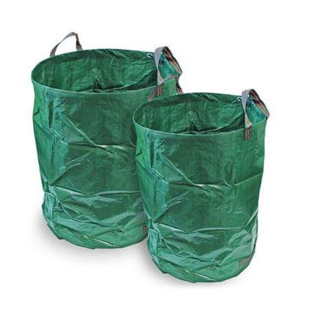 Happy Green zložljiv vrtni koš, 120 L, zelen