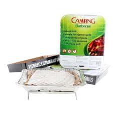 Camping barbecue szett 2 db egyszer használatos grillező, 27 × 22 × 5 cm