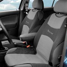 Compass Potah sedadla TRIKO přední 2ks tmavě šedý
