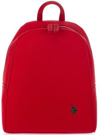 U.S. Polo Assn. dámský červený batoh Portsmouth