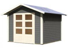 KARIBU dřevěný domek KARIBU TALKAU 6 (83339) tm. šedý