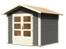 KARIBU dřevěný domek KARIBU TALKAU 4 (83337) tm. šedý