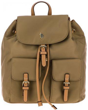 U.S. Polo Assn. dámský khaki batoh New Houston