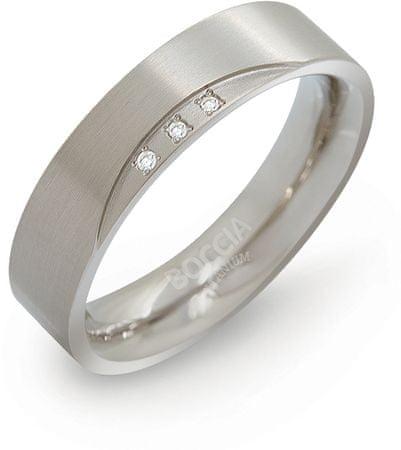 Boccia Titanium Titán gyémánt gyűrű 0138-02 (Kerület 58 mm)