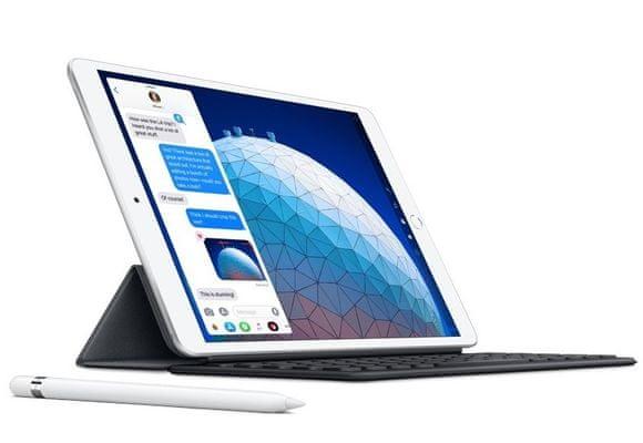 iPad Air 209, Retina displej, oleofobní, antireflexní, Apple Pencil, True Tone, vysoké rozlišení, široký barevný rozsah