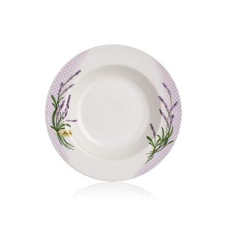 Banquet Porcelán mélytányér LAVENDER 21,6