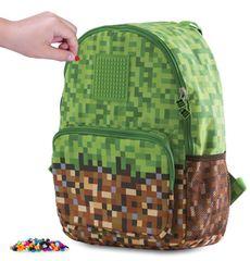 Pixie Crew Szabadidős hátizsák Minecraft zöld-barna
