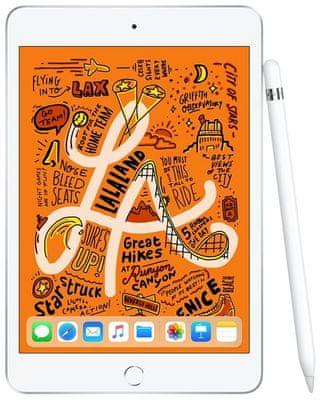 iPad Mini 2019, Retina displej, oleofobní, antireflexní, Apple Pencil, True Tone, vysoké rozlišení, široký barevný rozsah