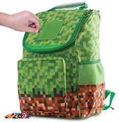 Pixie Crew Školská aktovka Minecraft zeleno-hnedá