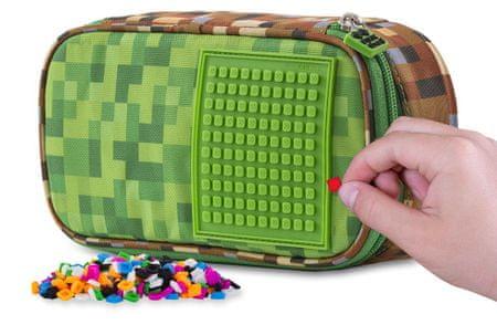 Pixie Crew Minecraft iskolai tolltartó zöld-barna