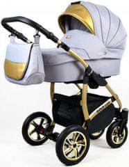 Sun Baby Kombinovaný kočík 3v1 Raf-pol Gold LUX