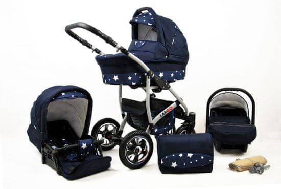 Sun Baby kočárek 3v1 Raf-pol Largo navy blue star
