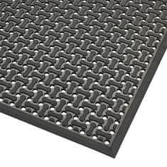 Černá gumová oboustranná protiskluzová rohož Superflow XT - 0,85 cm
