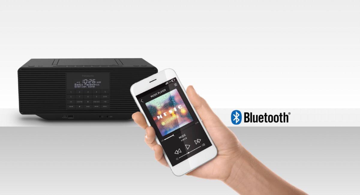 radiopřijímač PANASONIC RX-D70BT Bluetooth zvuk ve vysokém rozlišení