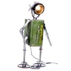 Papillon Kovová stolní lampa Robot, 72 cm, zelená