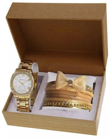 Gino Milano dámská sada hodinek a 6 náramků MWF14-025A