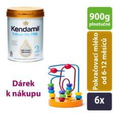 Kendamil 6x pokračovacie mlieko 2 (900g)