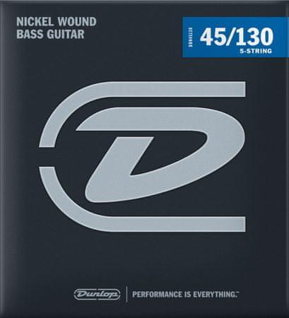 Dunlop DBN45130 Struny na päťstrunovú basgitaru