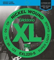 Daddario EXL220-5 Struny pro pětistrunnou baskytaru