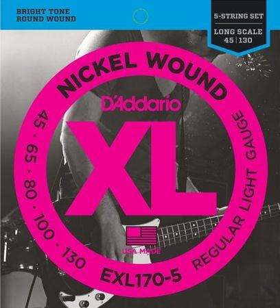 Daddario EXL170-5 Struny na päťstrunovú basgitaru