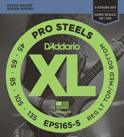 Daddario EPS165-5 Struny na päťstrunovú basgitaru