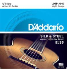 Daddario EJ35 Struny na dvanásťstrunovú gitaru