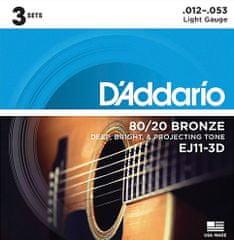 Daddario EJ11-3D Kovové struny na akustickú gitaru
