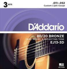 Daddario EJ13-3D Kovové struny na akustickú gitaru