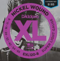 Daddario EXL120-8 Struny pro osmistrunnou elektrickou kytaru