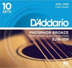 Daddario EJ16-10P Kovové struny na akustickú gitaru