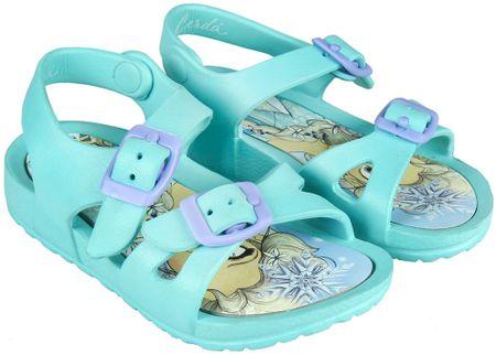 Disney dívčí sandály Frozen 26.5 mentolová