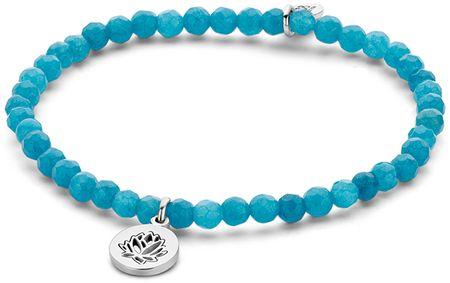 CO88 Kék jadeit karkötő liliom medállal 865-180-090167-0000