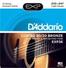 Daddario EXP36 Struny na dvanásťstrunovú gitaru