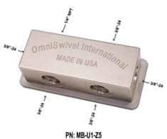 "OmniSwivel Manifold stredotlaký 1 port NPT 1/4"" , 5 portov 3/8"""
