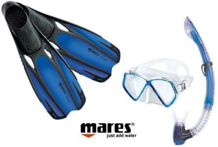 Mares Sada PIRAT maska, šnorchl s ploutvemi 34/35 modrá