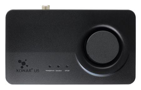 Asus zvočna kartica Xonar U5, 5.1, USB
