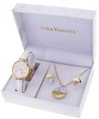 Vera Verona damski zestaw zegarek z wisiorkiem i kolczykami MWF16-024C